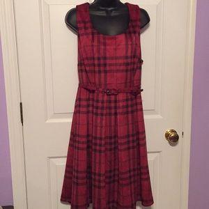Torrid red/black plaid dress